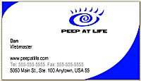 Peep at Life business card