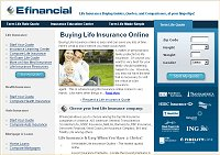 Efinancial Insurance Site