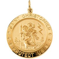 St. Christopher Medal 14K Yellow Gold Filled
