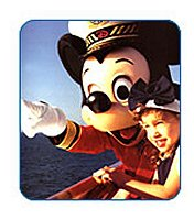 Disney cruises, Mikey Mouse showing the sights