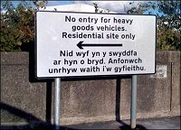 Sign correct in english, completely different in welsh