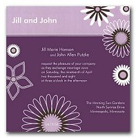 Wedding Invite - Lilac Spring style