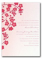 cherry blossoms invite